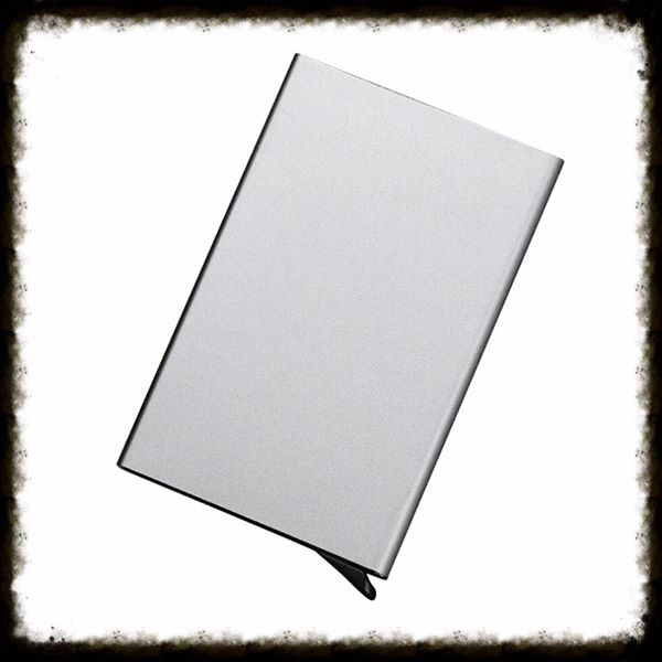 Aluminium Pasjeshouder - Zilvergrijs