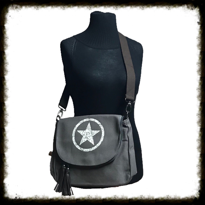 Crossbody Bag Star Grey