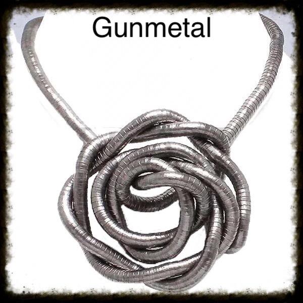 Flexibele Buigbare Ketting Gunmetal/Zwart
