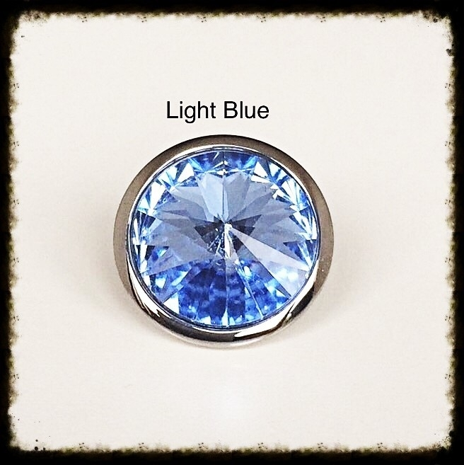 Verwisselbare Swarovski Tops - Light Blue