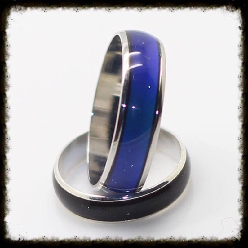Metalen Mood Ring - maat 17