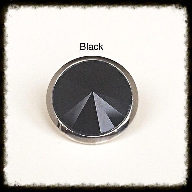 Verwisselbare Swarovski Tops - Black