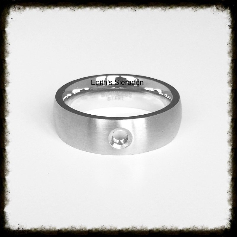 RVS ring voor verwisselbare tops - Maat 16