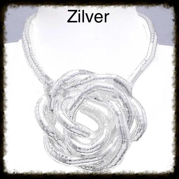Flexibele Buigbare Ketting Zilver