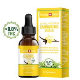 FLESJE 10ML CBD OLIE DRUPPELS  VANILLE  3-30% (300-3.000 mg) - THC<0.0%