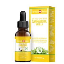 FLESJE 10ML CBD OLIE DRUPPELS  VANILLE  3-30% (300-3.000 mg) - THC<0.2%