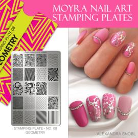 Moyra Stamping Plate 08 - Geometry