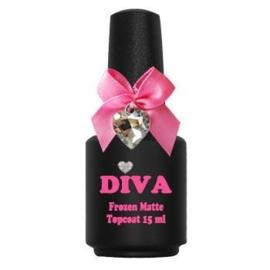 Diva Frozen Super Matte Top Coat zonder plaklaag 15ml