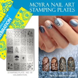 Moyra Stamping Plate 09 - Celebration