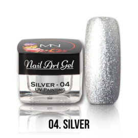 UV Painting Nail Art Gel - 04 - Silver 4g