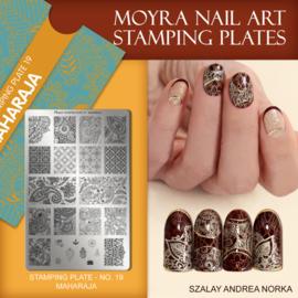 Moyra Stamping Plate 19 - Maharaje