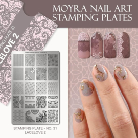 Moyra Stamping Plate 31 - Lacelove 2