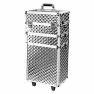 Aluminium trolley 3D zilver