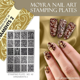 Moyra Stamping Plate 49 - Ornaments 2