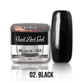 UV Painting Nail Art Gel  - 02 - Black 4g