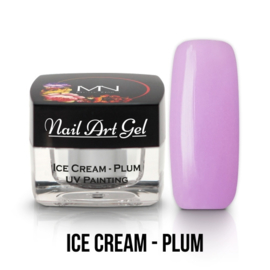 UV Painting Nail Art Gel - Ice Cream - Plum 4g
