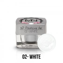 3D Plasticine Gel - 02 - White - 3,5g