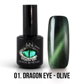 Gel Polish Dargon Eye Effect 01 - Olive 12 ml