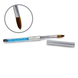 Kolinsky Silver Glamour Builder Brush - Flat-peaked #12