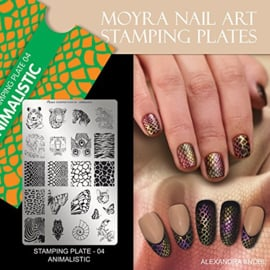 Moyra Stamping Plate  04 - Animalistic