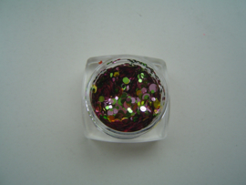 Confetti mix  groen/rose/goud