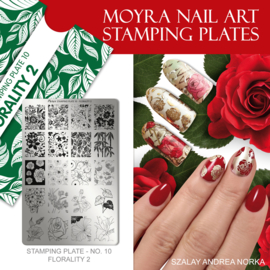 Moyra Stamping Plate 10 - Florality 2