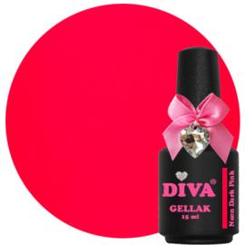 Diva Gellak Neon Dark Pink 15ml
