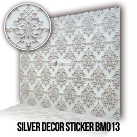 Silver Decor Sticker BMO13