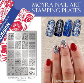 Moyra Stamping Plate 47 - Russian