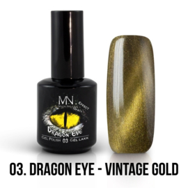 Gel Polish Dragon Eye Effect 03 - Vintage Gold 12 ml