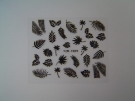 Lianco Water Decals Exotic Leaves - Zwart
