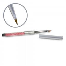 Kolinsky Silver Glamour Builder Brush - Flat Peaked #2