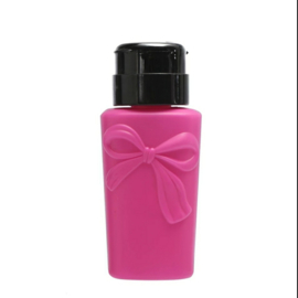 Pomp flesje strik roze