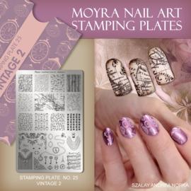 Moyra Stamping Plate 25 - Vintage 2