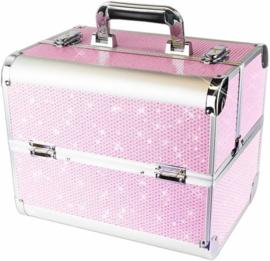 Koffer roze glitter