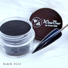 102 Black WowBao Acrylic Powder - 28g