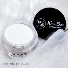 103 Off White WowBao Acrylic Powder 28g