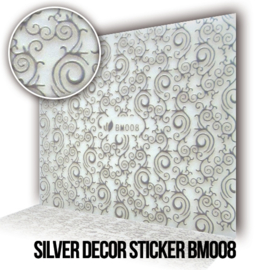 Silver Decor Sticker BM008