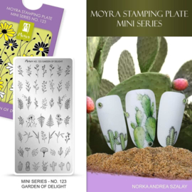 Moyra Mini Stamping Plate 123 - Garden of Delight