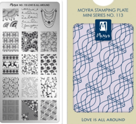 Moyra Mini Stamping Plate 113 - Love Is All Around