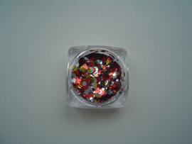 Confetti mix rood/zilver/goud