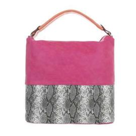 Roze tas met dierenprint