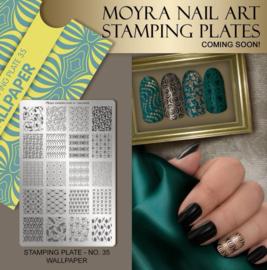 Moyra Stamping Plate 35 - Wallpaper