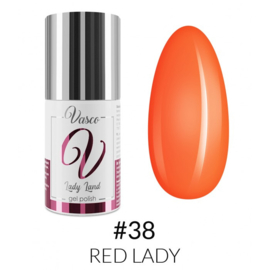 Vasco Gel Polish 038 Red Lady  6ml - Lady Land