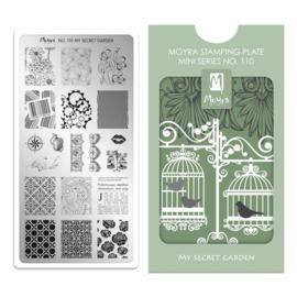 Moyra Mini Stamping Plate 110 - My Secret Garden