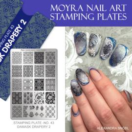 Moyra Stamping Plate 43 - Damask Drapery 2