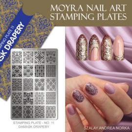 Moyra Stamping Plate 11 - Damask Drapery