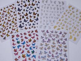 WowBao Nailart Stickers Butterfly - set van 6 stuks