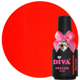 Diva Gellak Neon Coral 15ml