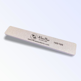 WowBao 100 Grit Square Zebra Grey NAIL FILE